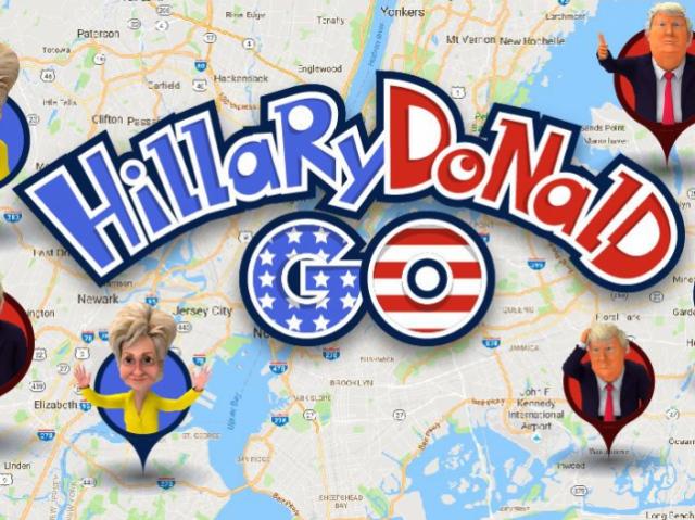 Приложение HillaryDonald Go: поймай своего президента