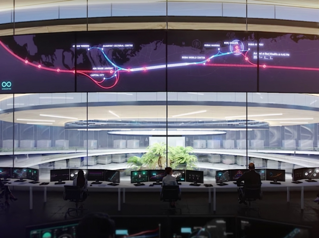 Розробники Hyperloop One показали концепт майбутньої транспортної системи в Дубаях