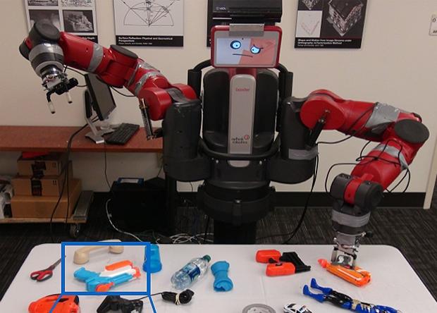 Робот самостоятельно научился держать пистолет