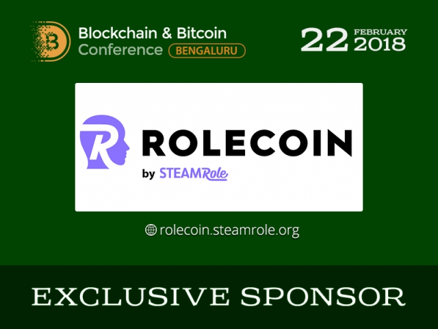 RoleCoin – Exclusive Sponsor of Blockchain & Bitcoin Conference Bengaluru