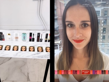 С ModiFace макияж наносится в виртуальной реальности