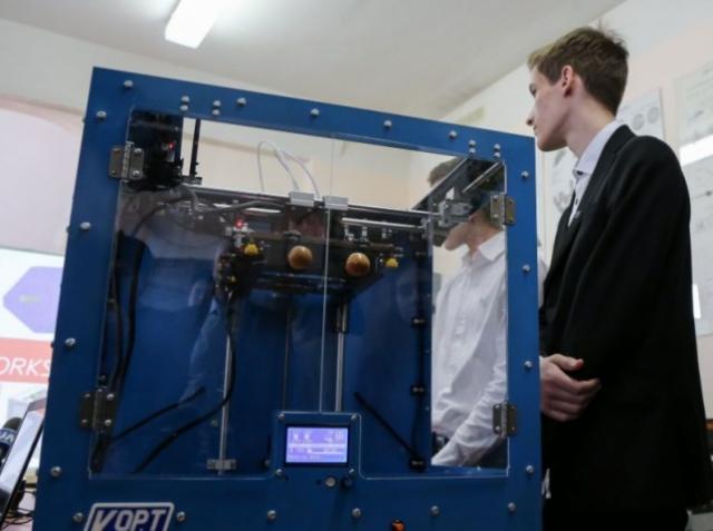Школьники Киева сами собрали дешёвый 3D-принтер