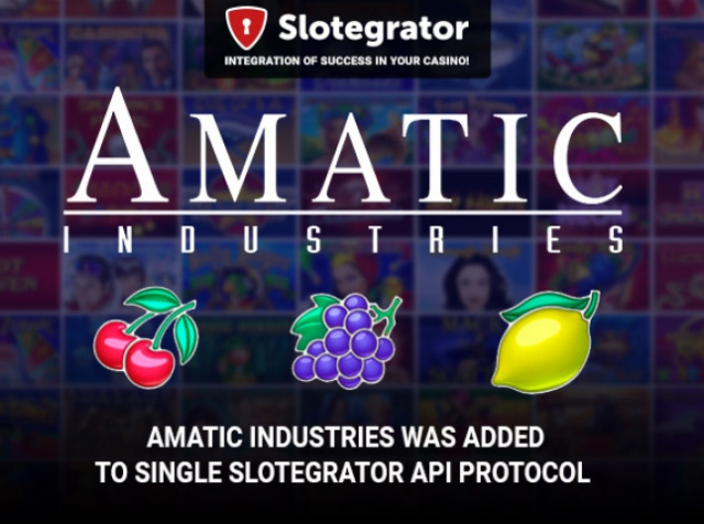 Slotegrator announced the addition of Amatic to single protocol