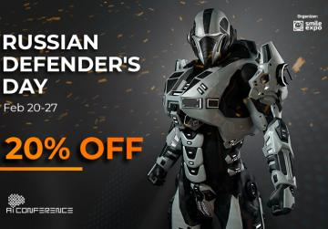 Special offer: 20% off to honor Russian Defender's Day
