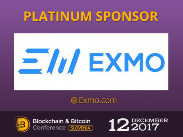 Sponsor of Blockchain & Bitcoin Conference Slovenia – EXMO