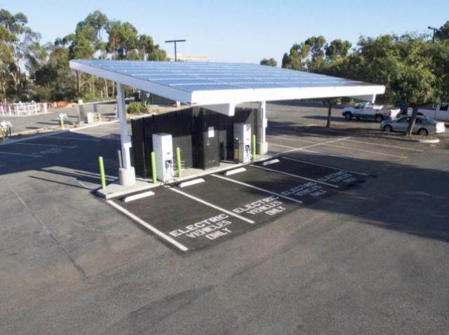 Станція зарядки для електротранспорту на сонячних батареях