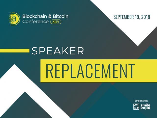 Stefano Tempesta to speak at Blockchain & Bitcoin Conference Kyiv instead of Zachary Reece