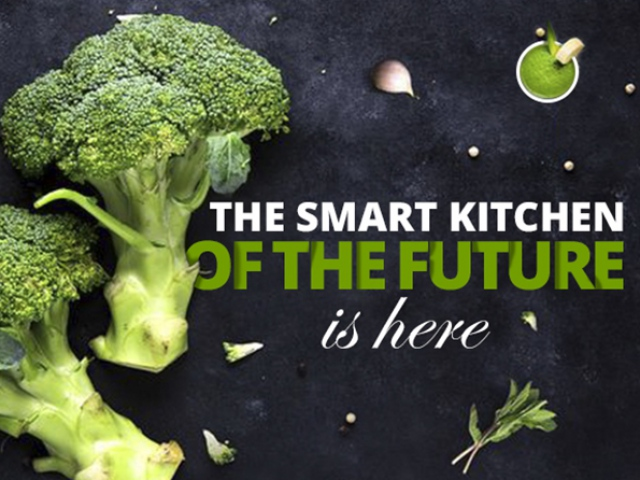 The smart kitchen of the future. Infographics