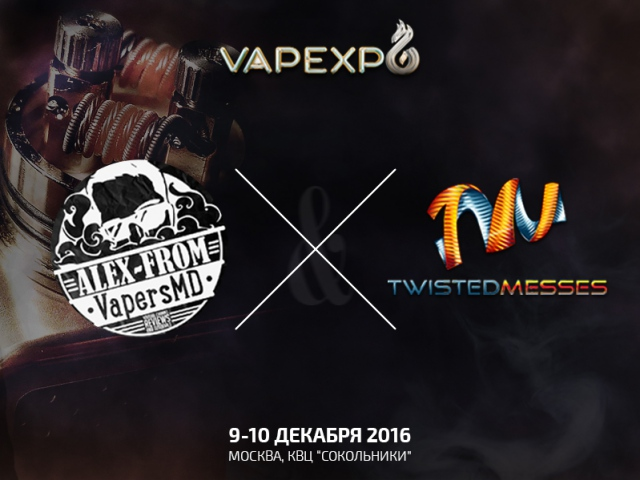 Twisted Messes – легенда коилбилдинга на VAPEXPO Moscow 2016