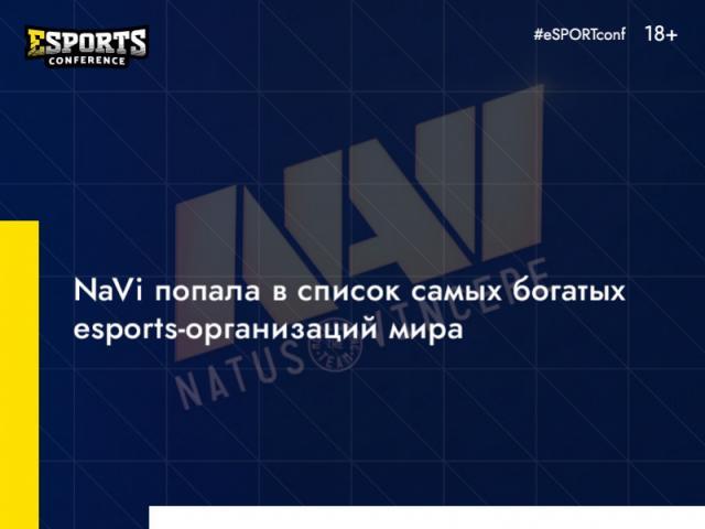 Украинский клуб NaVi занял 9-е место в рейтинге самых богатых esports-организаций