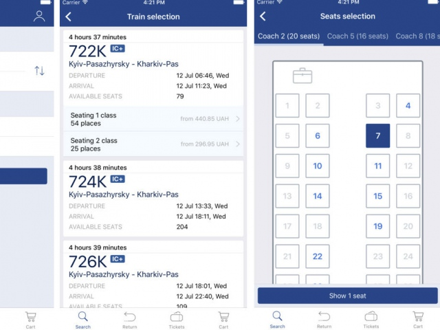 «Укрзализныця» разработала приложение для покупки ж/д-билетов под iOS
