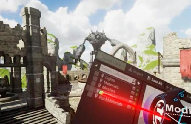 Unreal Engine позволит создавать игры изнутри виртуальной реальности