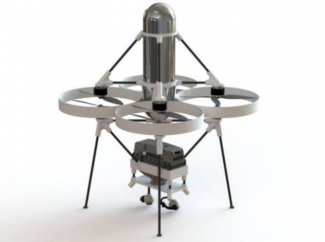 Delivery drone on hydrogen engine created in the US