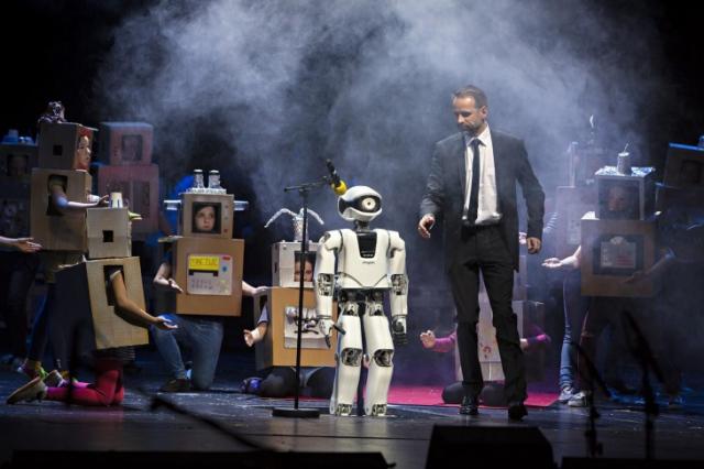 В Берлине появился робот-актер