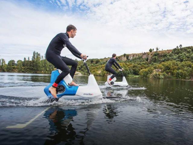 В Новой Зеландии создали водный электровелосипед
