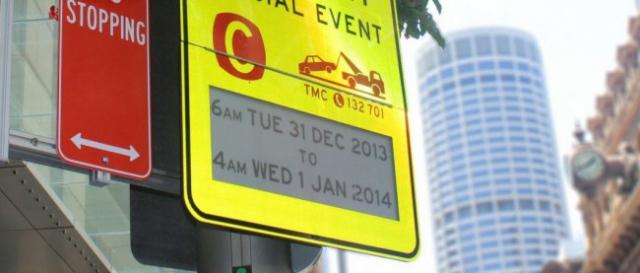 В Сиднее появились дорожные знаки на электронных чернилах