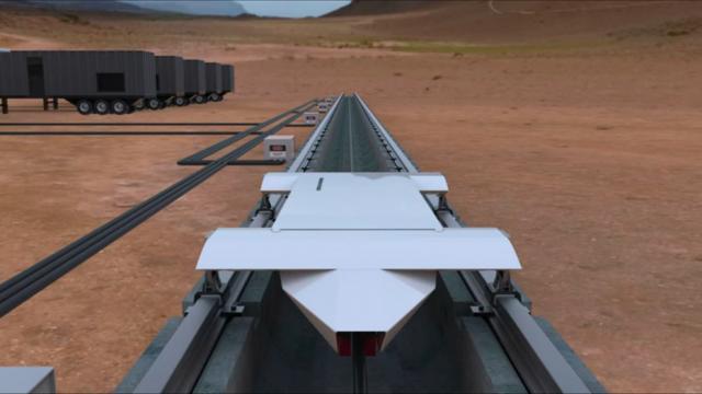 В США началось строительство первого отрезка магистрали Hyperloop
