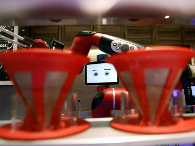 The second Cafe-X with a robot barista is opened in the U. S.