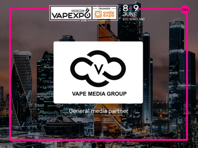 Vape Media Group: General Media Partner of VAPEXPO Moscow 2018