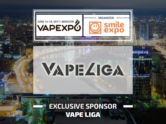 VapeLiga is VAPEXPO Moscow 2017 Exclusive Sponsor