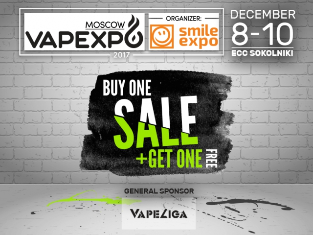 VAPEXPO Moscow: hurry up to buy tickets using Two-For-One offer!
