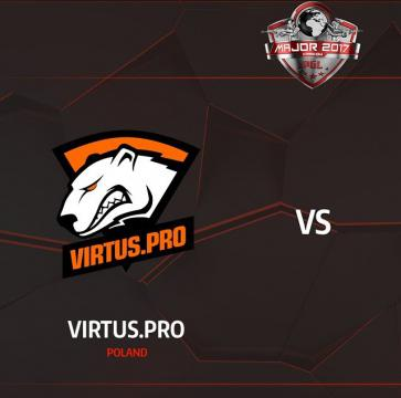 Virtus.pro advanced to the playoffs of PGL Major Krakow 2017