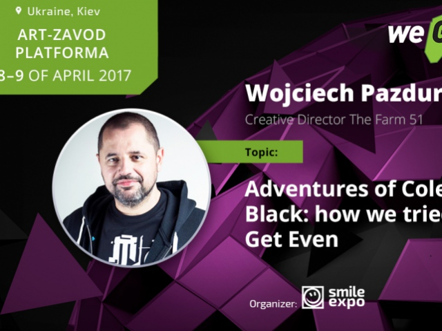 Wojciech Pazdur to speak about the creation of Get Even at WEGAME 3.0 lectures