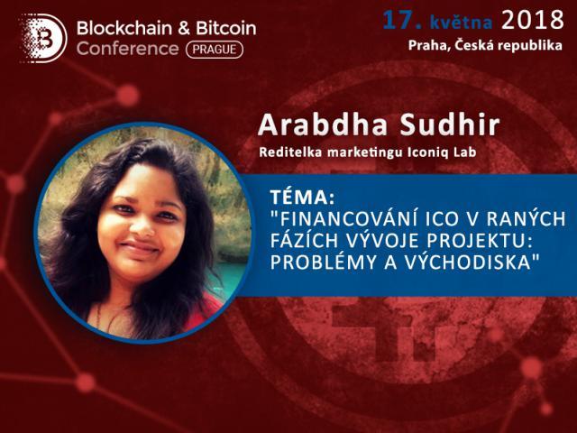 Změna programu konference: Sandrise Murinse nahradí Arabdha Sudhir z Iconiq Lab