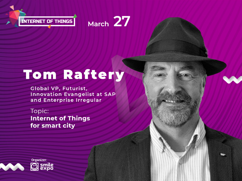Tom Raftery, IoT Evangelist at SAP, to talk to guests of Internet of Things conference