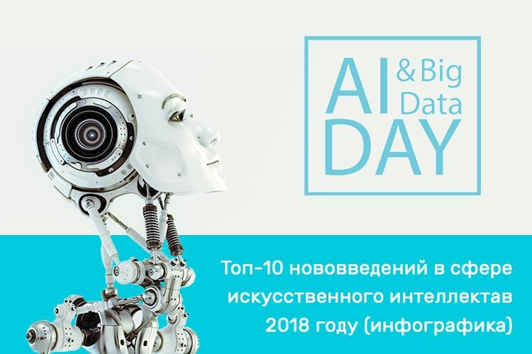 Топ-10 нововведений в сфере искусственного интеллекта в 2018 году (инфографика)