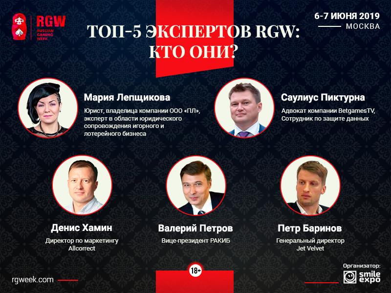 Топ-5 экспертов RGW: кто они?