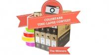 Три победителя конкурса от СolorFabb на лучшую замедленную съемку при участии 3D-печати