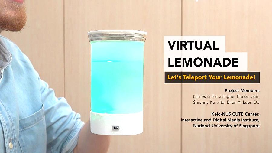Ученые передали вкус лимонада по Интернету