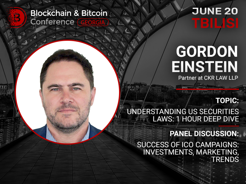 US securities laws: one-hour deep dive from the partner of Crypto Law Partners Gordon Einstein
