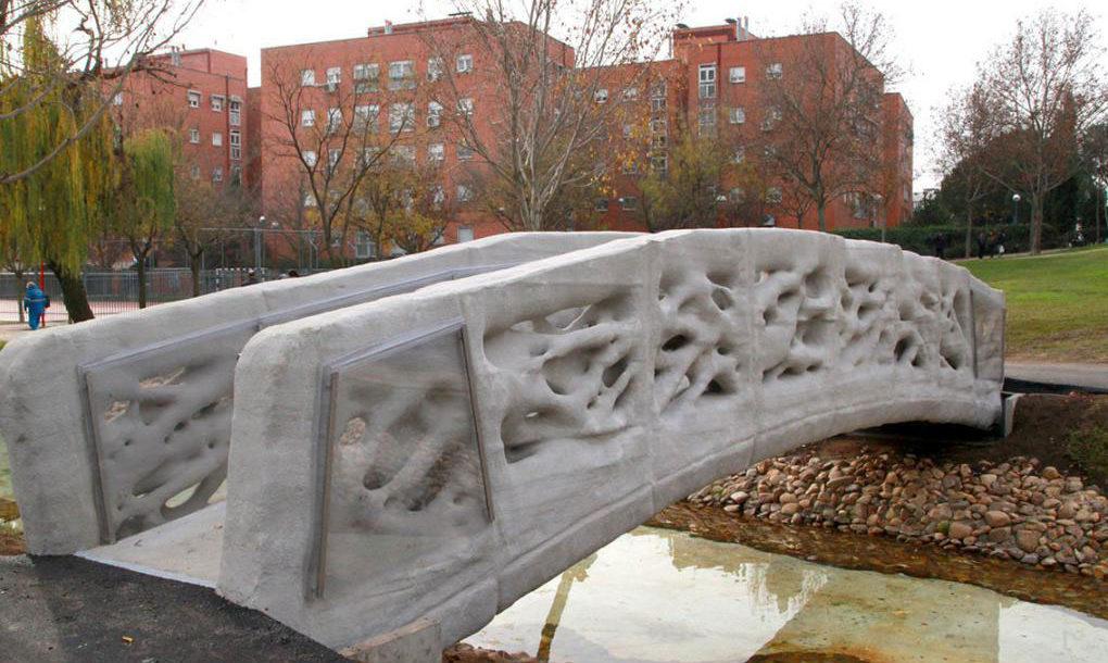 В Испании открыли 12-метровый мост, напечатанный на 3D-принтере