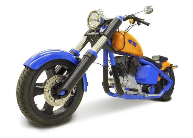 В Калифорнии презентуют напечатанный на 3D-принтере мотоцикл