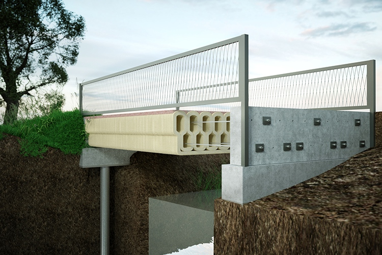 3D printed bridge for bicyclers in the Netherlands