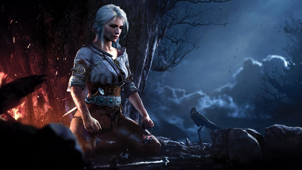 The main character in the first demo version of The Witcher was female