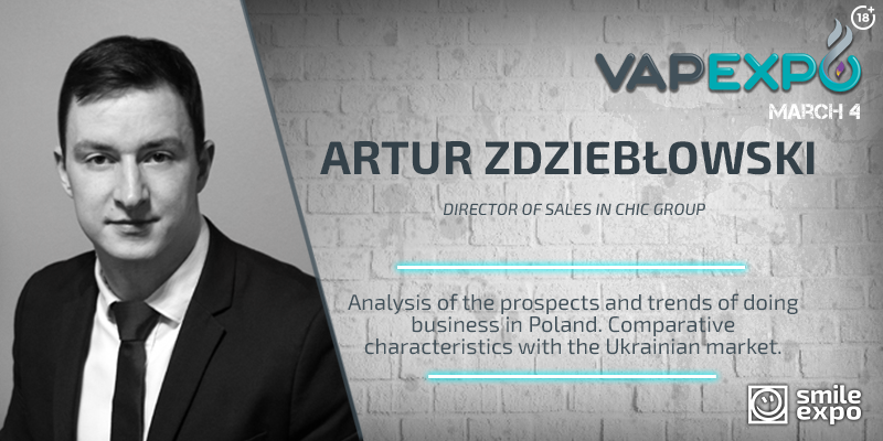 Vape market analysis from Sales Director at CHIC Group at VAPEXPO Kiev 2017