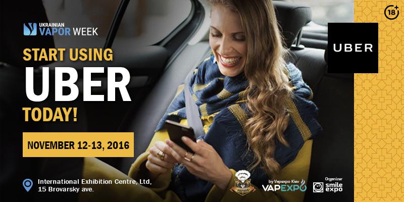 VapeWeek: Start using Uber today!