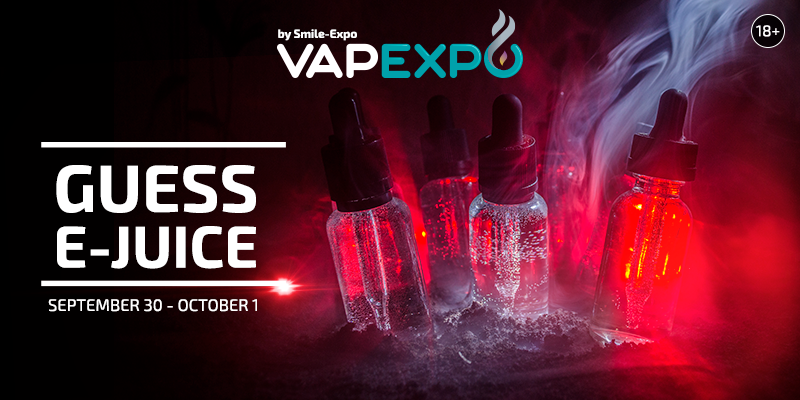 VAPEXPO Kiev 2017: guess what's in the tank and receive a year's supply of e-liquids!