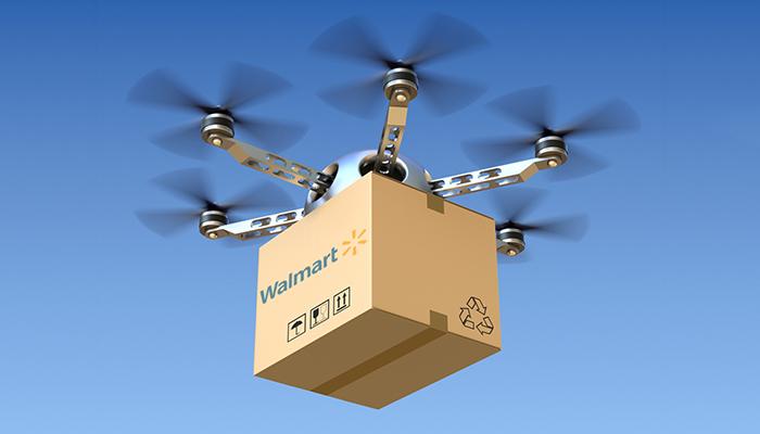 Walmart будет отслеживать доставку товаров дронами с помощью блокчейна