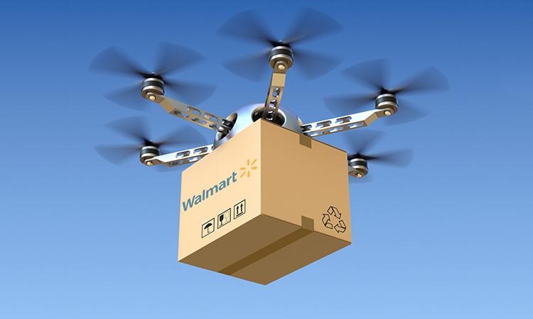 Walmart создает систему доставки на блокчейне при помощи дронов