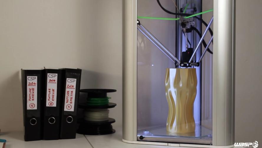 WASP разработала систему остановки и сохранения результатов печати для 3D-принтеров