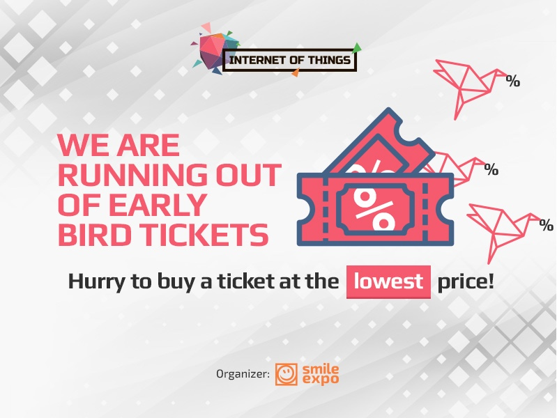 We are running out of early bird tickets – hurry to buy a ticket at the lowest price!