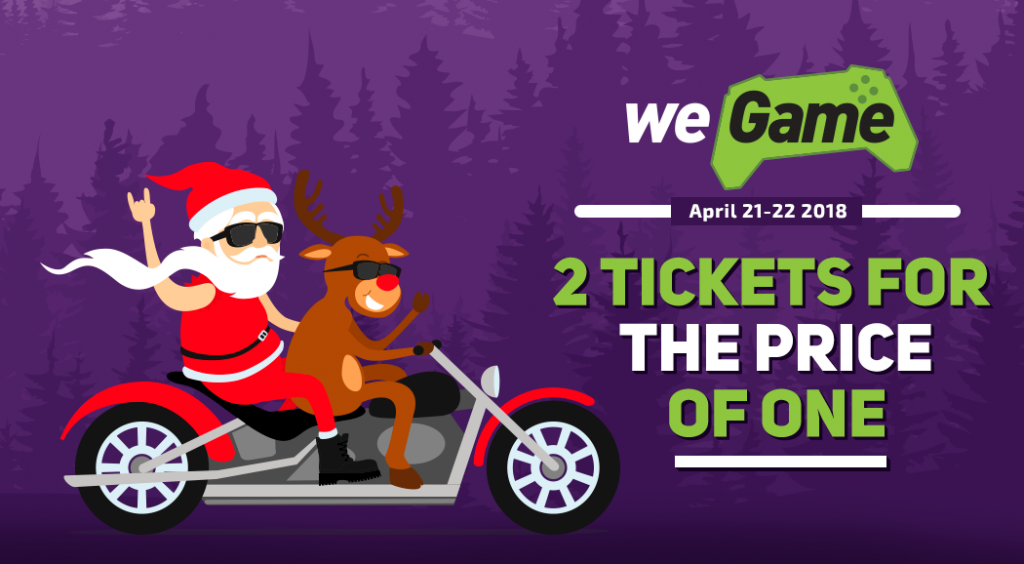 WEGAME gives New Year mood. Festival tickets at half price!