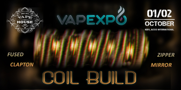 Workshop on coil winding on stage VAPEXPO Kiev-2016