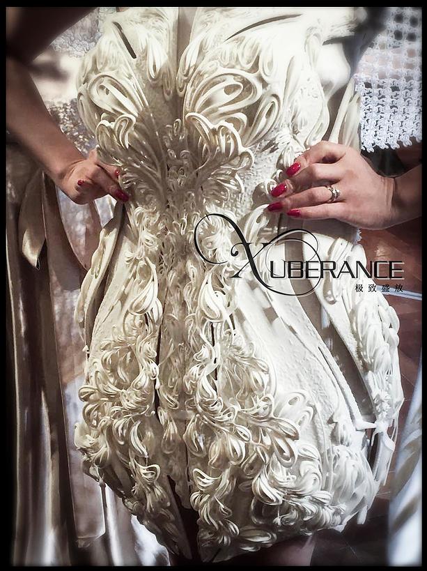 Xuberance представила два потрясающих свадебных 3D-печатных платья на выставке TCT в Шанхае