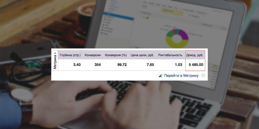 «Яндекс.Директ» начал показывать доход по ecommerce-цели