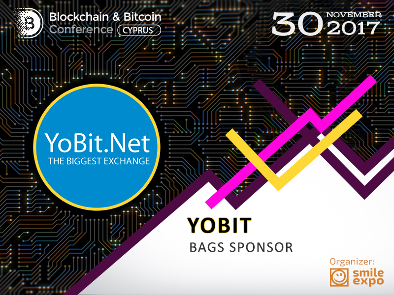 Yobit.net cryptocurrency exchange to become Bag Sponsor of Blockchain & Bitcoin Conference Cyprus